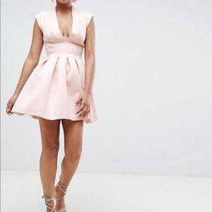 ASOS Mini Scuba Dress w/ Open Back